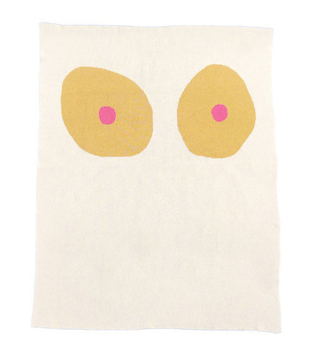Cold Picnic Tonal Boob Knit Blanket