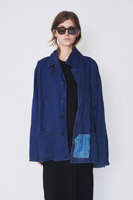 assembly Vintage Indigo Workcoat with Patch