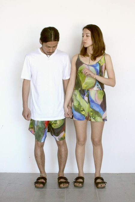 Unisex Strathcona Painted Palm Cami and Short