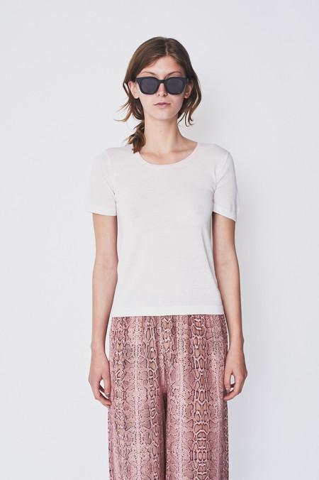 HESPERIOS Alpaca/Silk Ines Ringer T Shirt - White