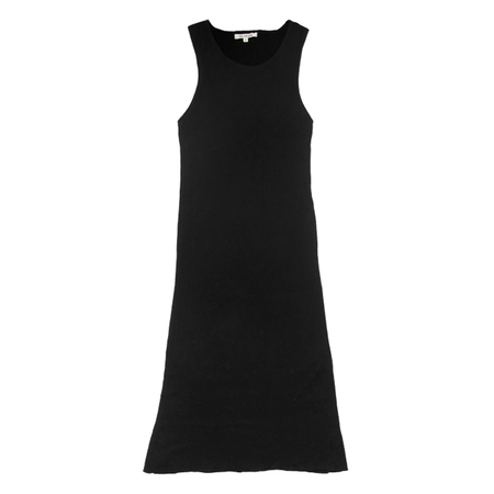 Ali Golden RIBBED DRESS - BLACK