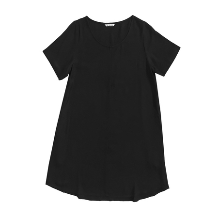 Ali Golden RAYON WOVEN T-SHIRT DRESS - BLACK