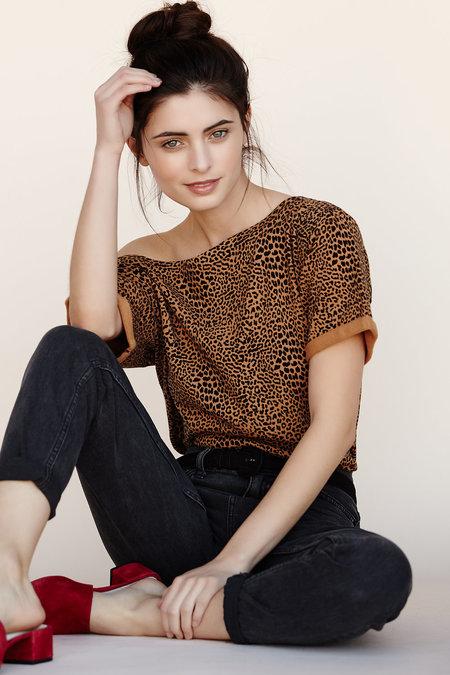 Callahan Leopard Off The Shoulder Top