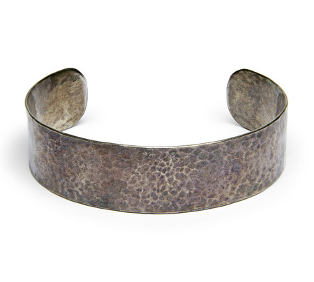 FORTUNE GOODS VINTAGE 1950's MEXICAN SILVER HAMMERED CUFF