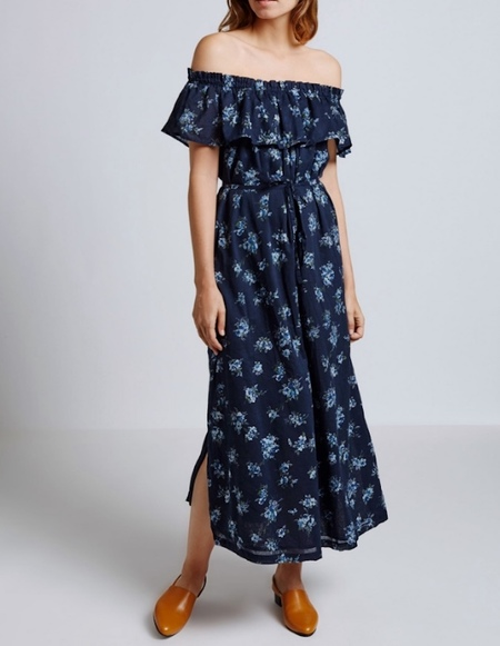 Current Elliott Ruffle Off Shoulder Dress