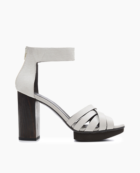 Coclico Italian leather combination heel