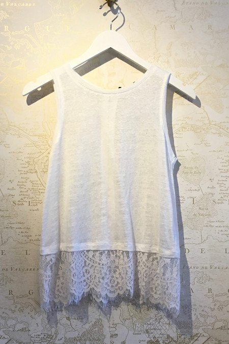Generation Love 'Frances' Tank with Lace Bottom