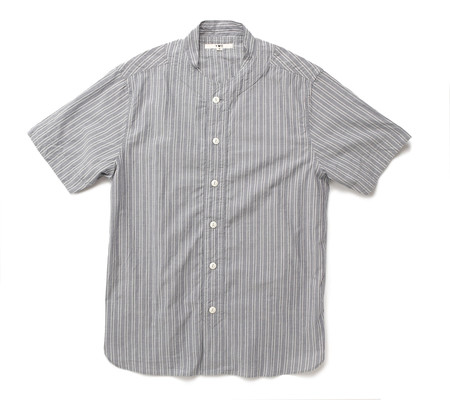YMC Double Stripe Baseball Shirt | Navy