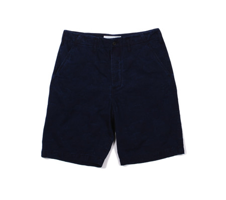 Universal Works Loose Short | Camo Indigo