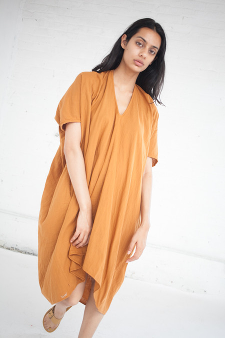 Visvim Ruana Dress in Orange