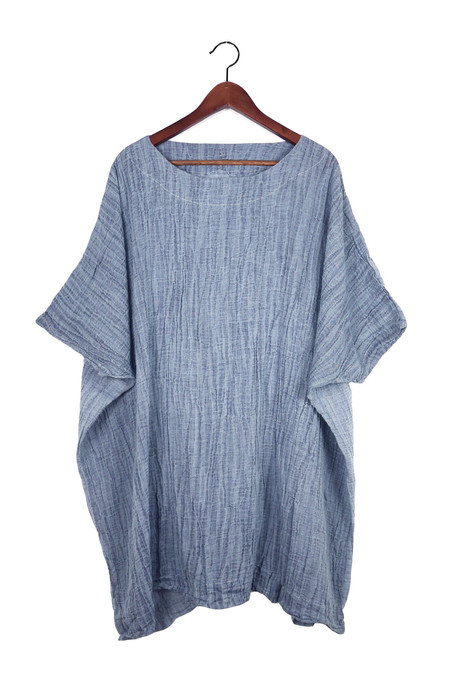 Uzi NYC Denim Gauze Box Dress