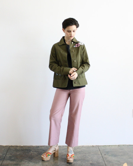 Rachel Antonoff Betty jacket - olive