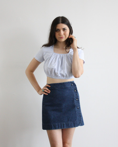 Carleen Denim Snap Skirt