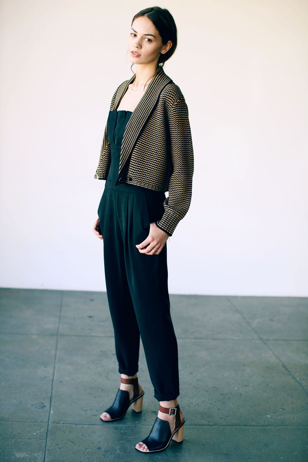 Cosette Louisa Cropped Cardigan Blacksand