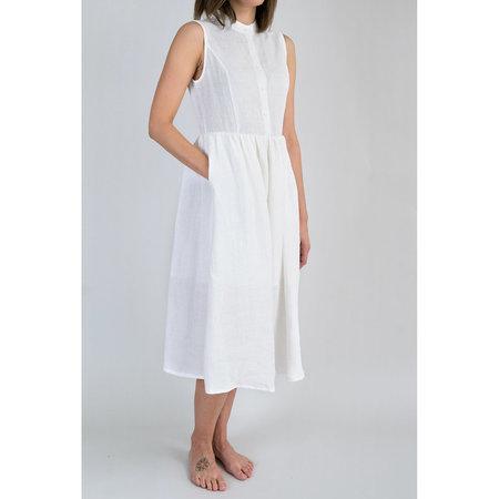7115 by Szeki Textured Princess Dress - Off White