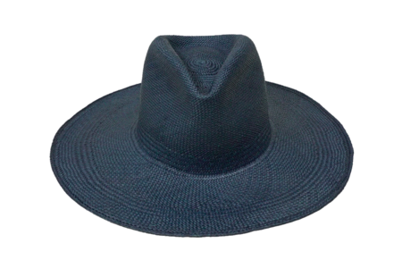 clyde Pinch Panama Hat in Navy