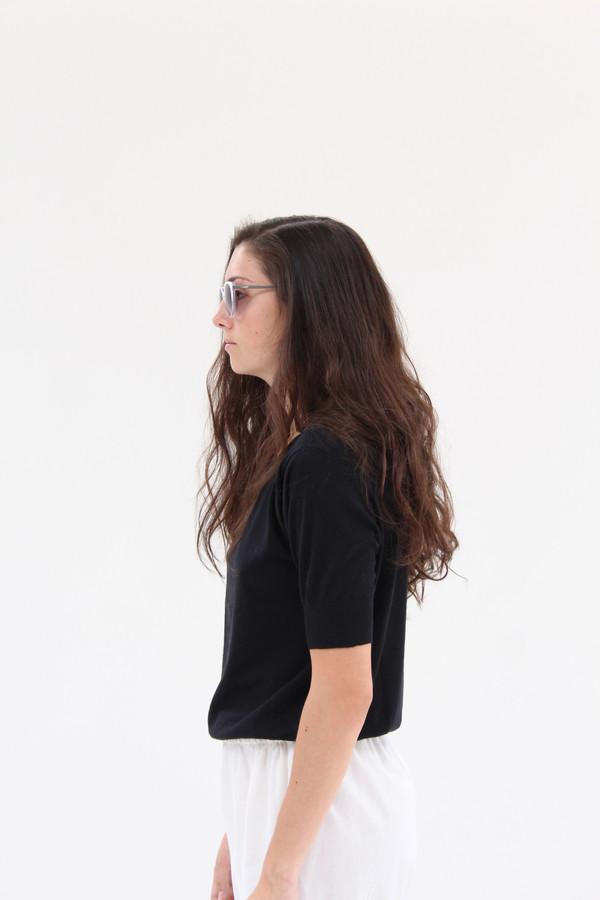 Beklina Cotton Knit Top Black