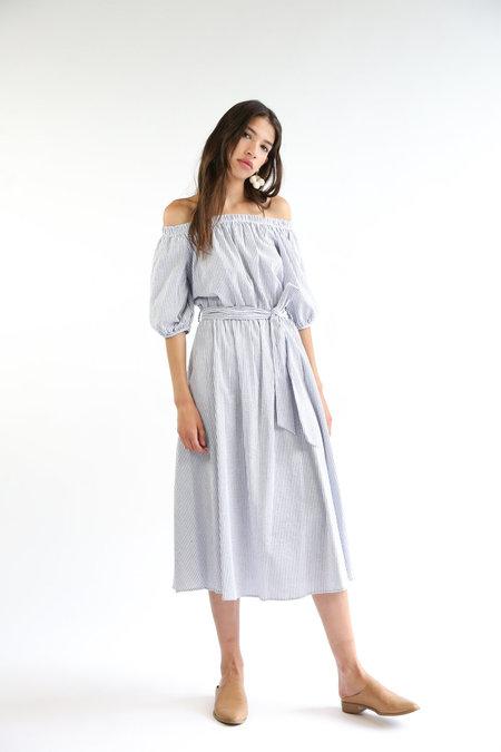 Collection Layla Dress - Navy/White Stripe
