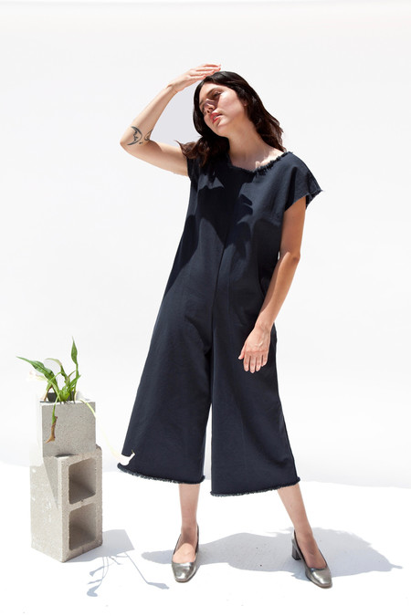 Miranda Bennett Studio, LLC In-Stock: Coveralls, Denim in Almost Black