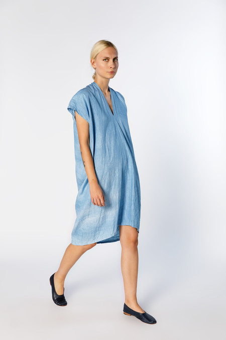 Miranda Bennett In-Stock: Ed. VIII Everyday Dress, Linen in Light Indigo