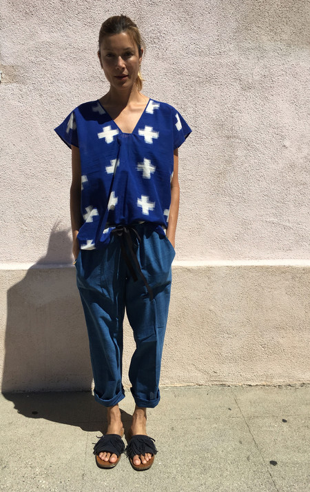 Two New York Indigo Drawstring Pant