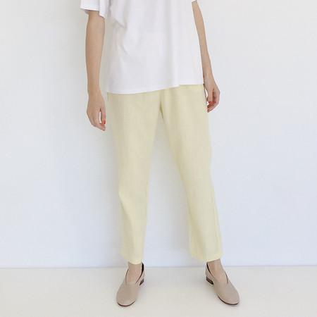 Johan Vintage Lemon Textured Cotton Easy Pant
