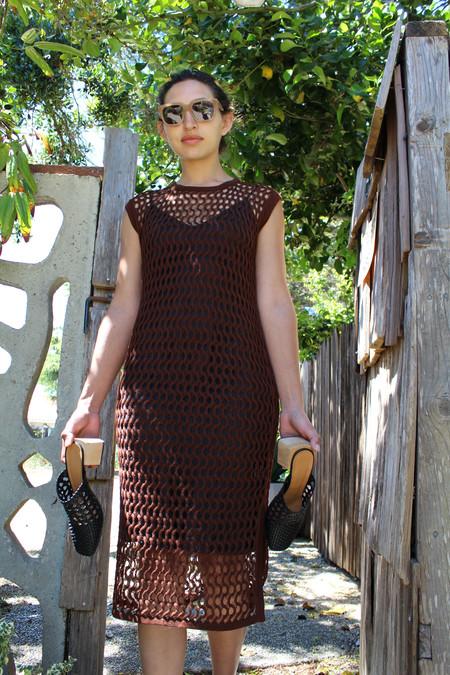 Rachel Comey Coax Lace Dress Espresso