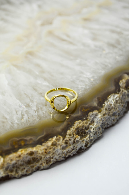 Maria Black Gold Taylor Ring