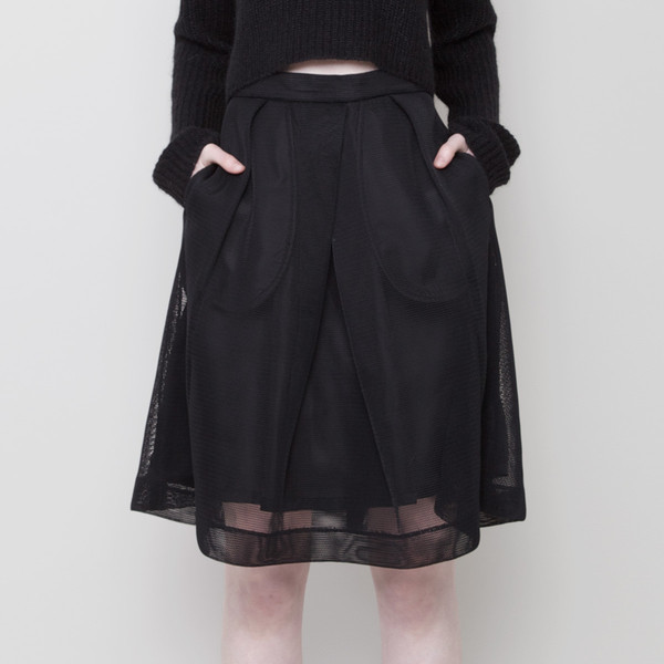 7115 by Szeki Fishnet A-Line Skirt