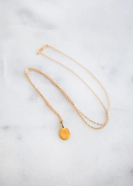 Kathleen Whitaker Foil Necklace 14K Gold