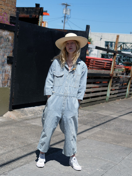 Shop Boswell VINTAGE 1940'S STRIPE COVERALLS