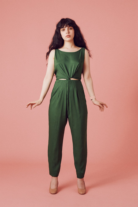 Samantha Pleet Immortal Jumpsuit - Leaf Green