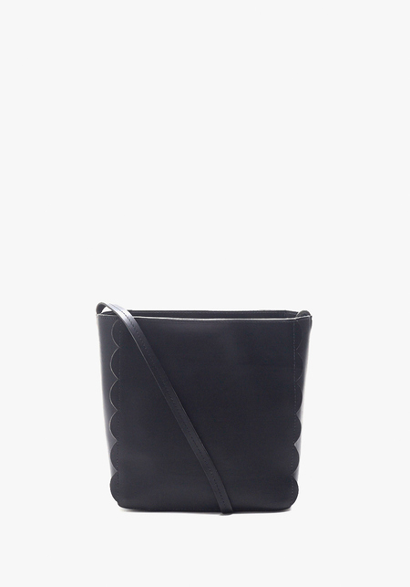 Clare V. Black Scalloped Ines Bag with Netty