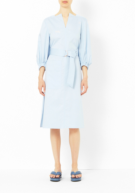 Tibi Morning Blue Poplin Dress