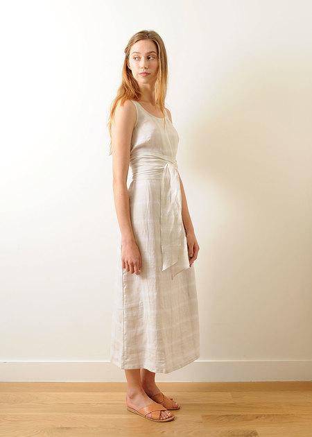 Pale Fire Goddess Dress White Plaid