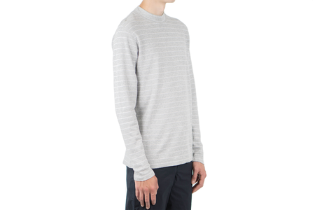 Norse Projects HARALD RAISED STRIPE - LIGHT GREY MELANGE