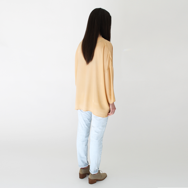 Revisited silk pullover ochre