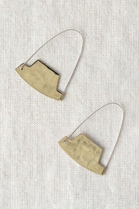 Erin Considine Arch Hoop Earrings In Brass