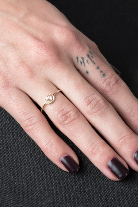 WWAKE Single Nested Rosecut Diamond Ring