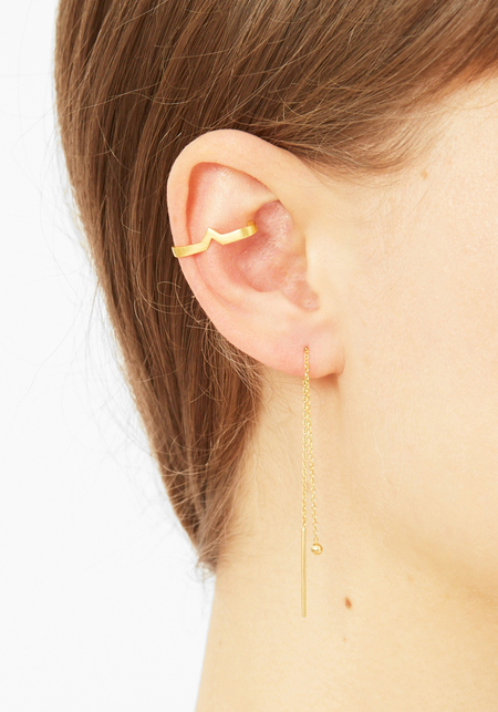 Maria Black Matte Gold Hero Ear Cuff