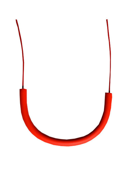 Surface Handmade Cylinder Necklace - Red