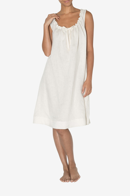 The Sleep Shirt Sleeveless Nightie Oatmeal Linen