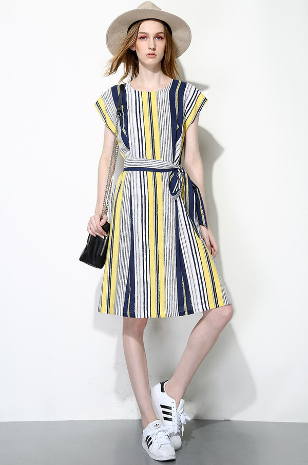Few Moda Vertical Stripes Dress