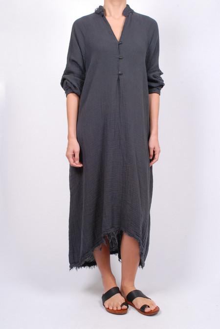Black Crane Double Gauze Dress - Dark Grey