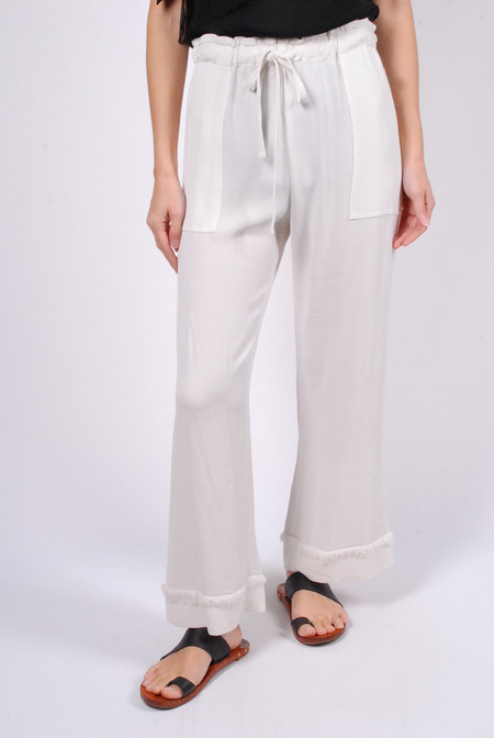Raquel Allegra Cropped Flare Pant - Dirty White