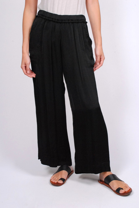 Raquel Allegra Wide Leg Pant - Black