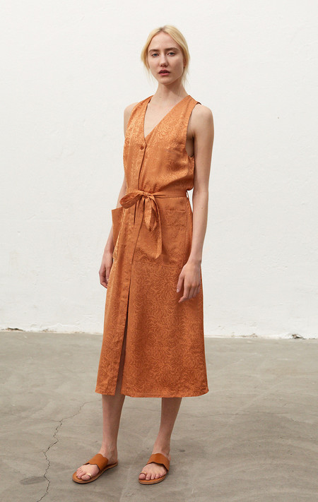 Rodebjer Sellen Dress Jacquard - Burnt Sand