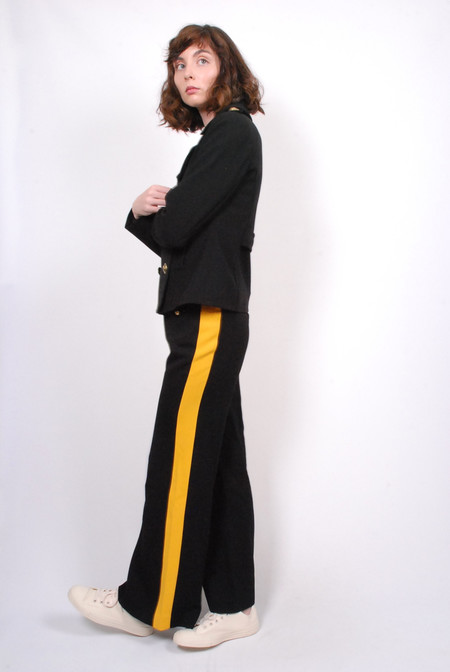 Smythe Officer Pant - Black w/ Yellow