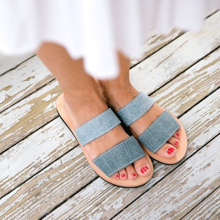 Proud Mary 2 Strap Denim Sandal