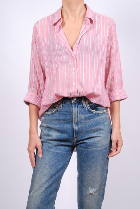 Xirena Striped Lawn Beau Shirt - Mayfair